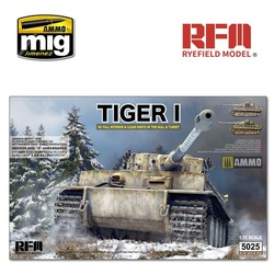 Tiger Early Production with Full Interior & Clear Parts & Workable Track Links - Scale 1/35 - Reye Field Models - RFM5025