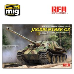 Jagdpanther G2 with Full Interior & Workable Track Links - Scale 1/35 - Reye Field Models - RFM5022