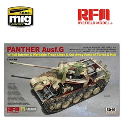 Panther Ausf.G with Full Interior & Cut Away Parts - Scale 1/35 - Reye Field Models - RFM5019