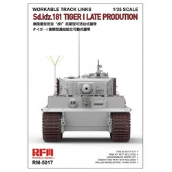 Workable Track Links For Tiger I Late Production - Scale 1/35 - Reye Field Models - RFM5017