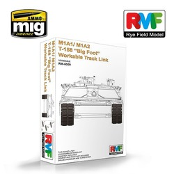 """M1A1/ M1A2 T-158 """"Big Foot"""" Workable Track Link  - Scale 1/35 - Reye Field Models - RFM5009"""