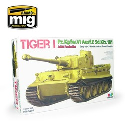 Tiger I Initial Production Early 1943 North African Front / Tunisia - Scale 1/35 - Reye Field Models - RFM5001