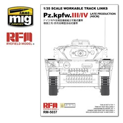 Workable Track Links Set For PZ.III/IV Late Production (40cm) - Scale 1/35 - Reye Field Models - RFM5037
