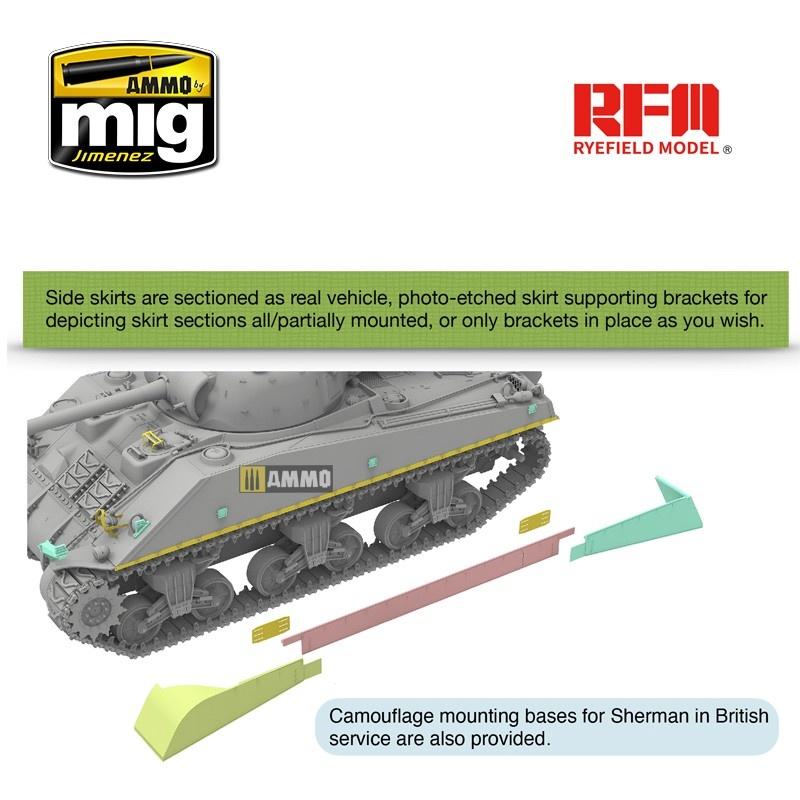 "Rye Field Models British Sherman VC ""Velikiye Luki"" with Workable Track Links - Scale 1/35 - Reye Field Models - RFM5038"
