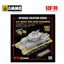 Upgrade Kit for U.S. M4A3 76W HVSS Sherman (for RFM5028 & RFM5042) - Scale 1/35 - Reye Field Models - RM2002