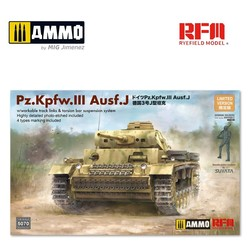 PZ.KPFW.III AUSF.J with Workable Track Links - Scale 1/35 - Reye Field Models - RFM5070