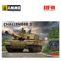 British Main Battle Tank Challenger 2 with Workable Track Links - Scale 1/35 - Reye Field Models - RFM5062