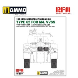 Workable Track Links For British Sherman VC Firefly, M3, M4A1, M4A4, M4 Early - Scale 1/35 - Reye Field Models - RFM5044
