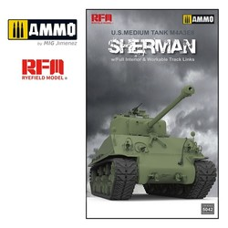 M4A3 76W HVSS Sherman with full interior & workable track links - Scale 1/35 - Reye Field Models - RFM5042