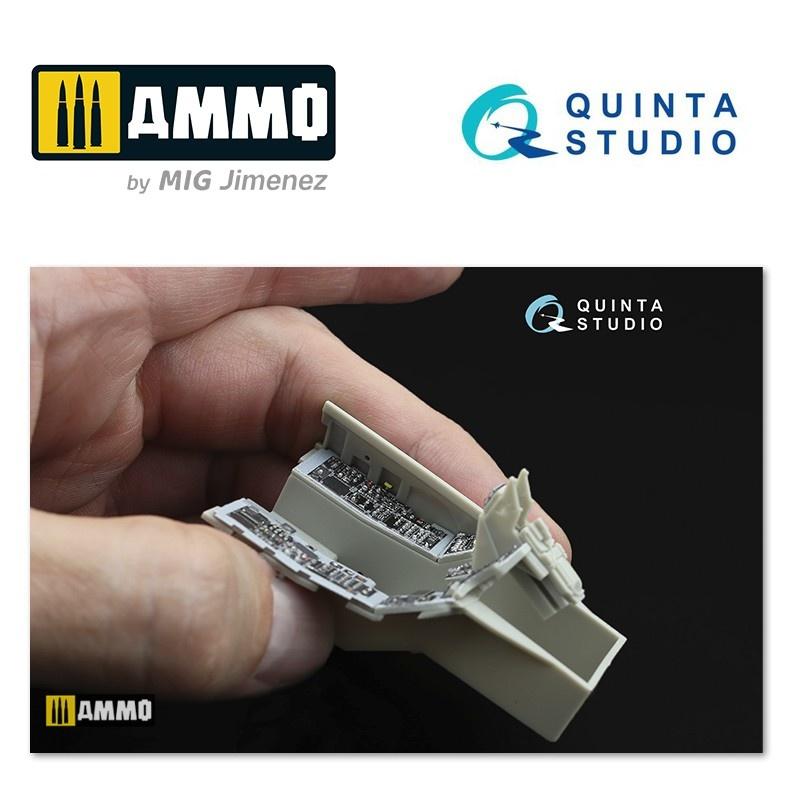 Quinta Studio F-16C 3D-Printed & coloured Interior on decal paper - Scale 1/32 - Quinta Studio - QD32003