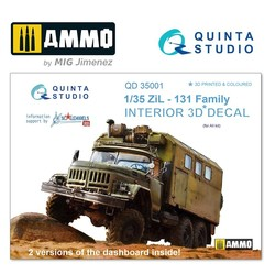 ZiL-131 Family 3D-Printed & coloured Interior on decal paper - Scale 1/35 - Quinta Studio - QD35001