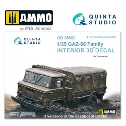 GAZ-66 Family 3D-Printed & coloured Interior on decal paper - Scale 1/35 - Quinta Studio - QD35002