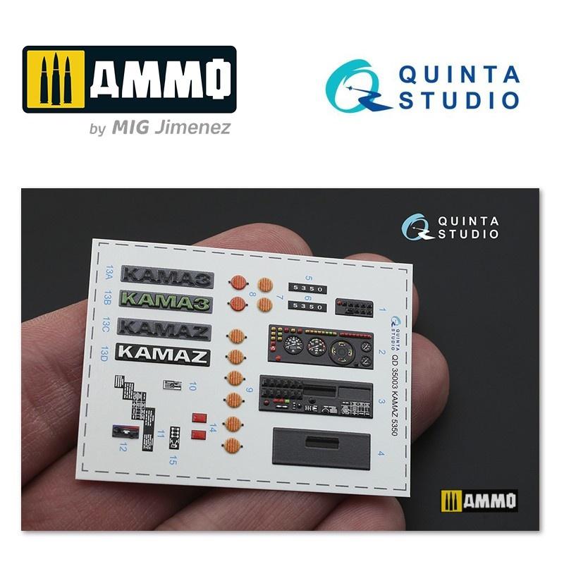 Quinta Studio KAMAZ 5350 Mustang Family 3D-Printed & coloured Interior on decal paper - Scale 1/35 - Quinta Studio - QD35003