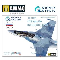 Yak-130 3D-Printed & coloured Interior on decal paper - Scale 1/72 - Quinta Studio - QD72007