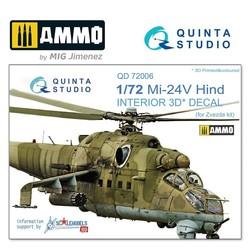 Mi-24V 3D-Printed & coloured Interior on decal paper - Scale 1/72 - Quinta Studio - QD72006