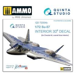 SU-57 3D-Printed & coloured Interior on decal paper - Scale 1/72 - Quinta Studio - QD72004
