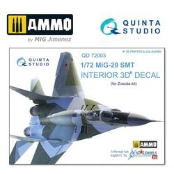 MiG-29 SMT  3D-Printed & coloured Interior on decal paper - Scale 1/72 - Quinta Studio - QD72003