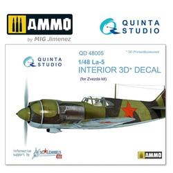 La-5 3D-Printed & coloured Interior on decal paper - Scale 1/48 - Quinta Studio - QD48005