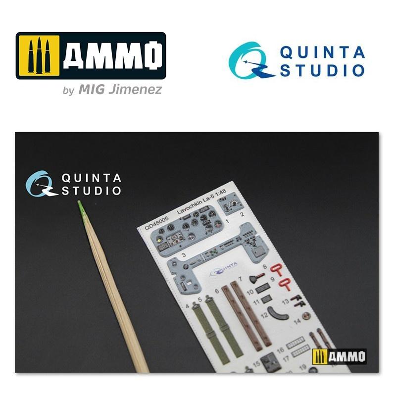 Quinta Studio La-5 3D-Printed & coloured Interior on decal paper - Scale 1/48 - Quinta Studio - QD48005