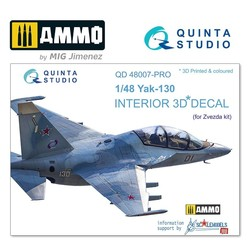 Yak-130 3D-Printed & coloured Interior on decal paper - Scale 1/48 - Quinta Studio - QD48007