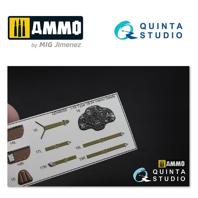 Quinta Studio I-16 type 18/24 3D-Printed & coloured Interior on decal paper - Scale 1/48 - Quinta Studio - QD48009