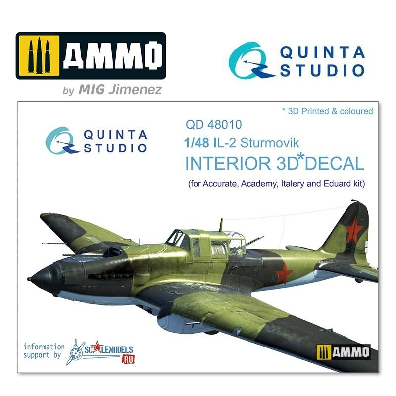 Quinta Studio IL-2 3D-Printed & coloured Interior on decal paper - Scale 1/48 - Quinta Studio - QD48010