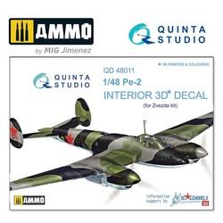Pe-2 3D-Printed & coloured Interior on decal paper - Scale 1/48 - Quinta Studio - QD48011