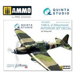IL-2 3D-Printed & coloured Interior on decal paper - Scale 1/48 - Quinta Studio - QD48020