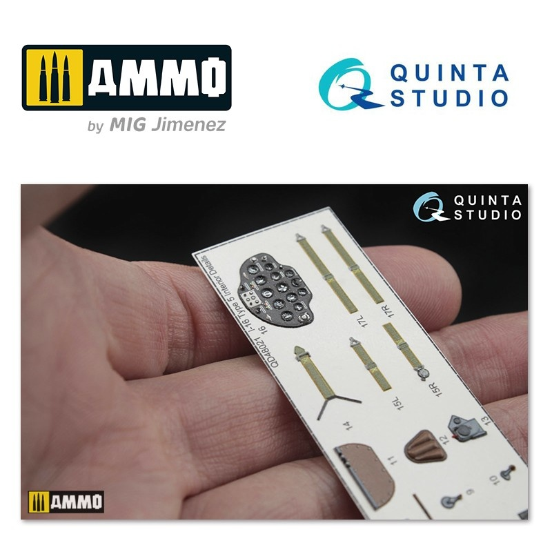 Quinta Studio I-16 type 5 3D-Printed & coloured Interior on decal paper - Scale 1/48 - Quinta Studio - QD48021