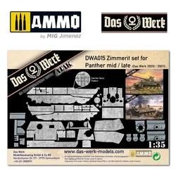 Zimmerit Set für Panther mid/late (DB pattern) - Scale 1/35 - Das Werk - DWA015