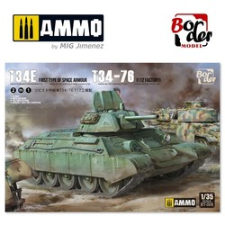 Limited Edition T-34E & T-34/76 (Factory 112) - 2 In 1 - Scale 1/35 - Border Models - BT009