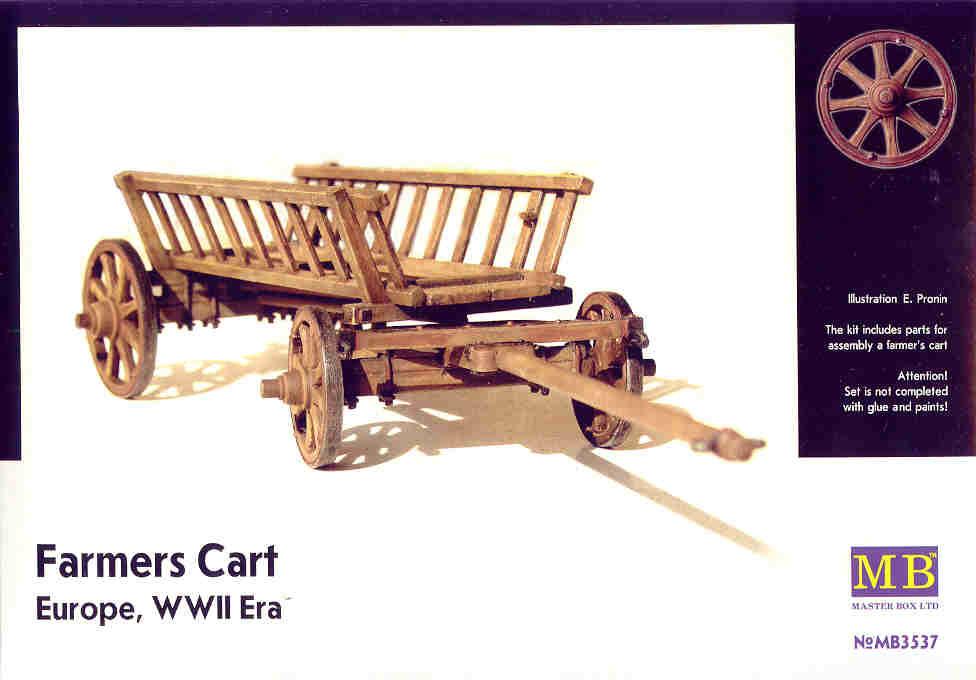 Master Box Ltd Farmer's Cart, Europe, WWII Era    - Scale 1/35 - Master Box Ltd - MBLTD3537