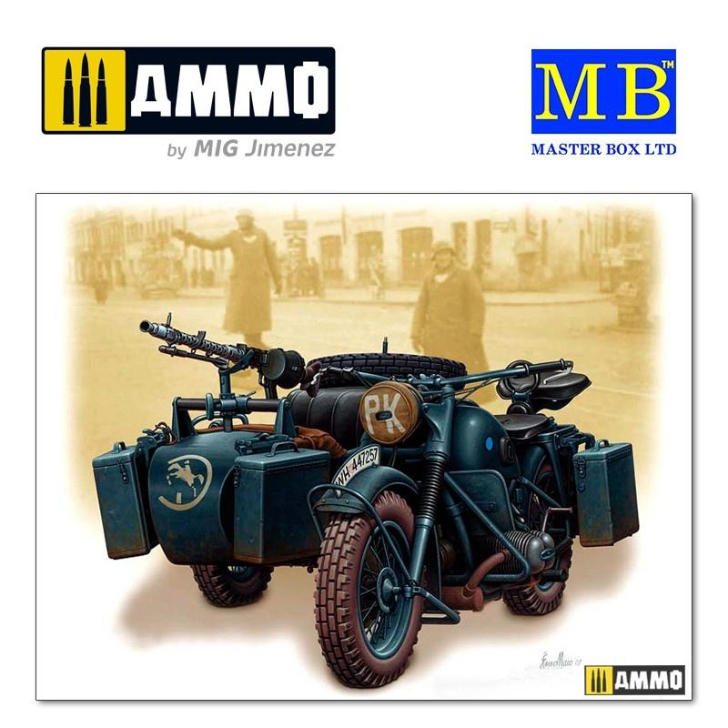 Master Box Ltd German motorcycle, WWII - Scale 1/35 - Master Box Ltd - MBLTD3528
