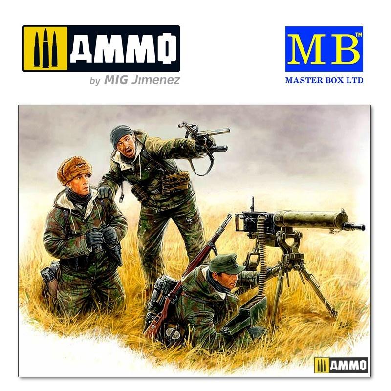 Master Box Ltd German machinegun crew, Eastern front, Kurland, 1944 - Scale 1/35 - Master Box Ltd - MBLTD3526