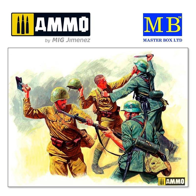 Master Box Ltd Eastern Front Series. Kit № 3. Hand-to-hand fight, 1941-1942 - Scale 1/35 - Master Box Ltd - MBLTD3524
