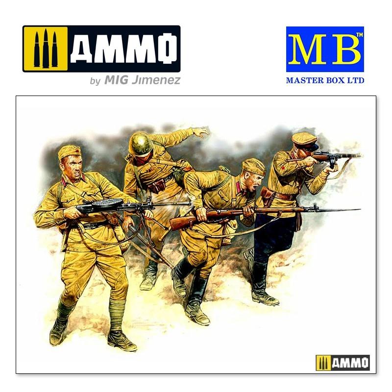 Master Box Ltd Eastern Front Series. Kit № 2. Soviet Infantry in action, 1941-1942 - Scale 1/35 - Master Box Ltd - MBLTD3523