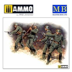 Eastern Front Series. Kit № 1. German Infantry in action, 1941-1942 - Scale 1/35 - Master Box Ltd - MBLTD3522