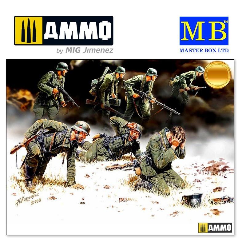 Master Box Ltd German Panzergrenadiers, 7 fig. - Scale 1/35 - Master Box Ltd - MBLTD3518