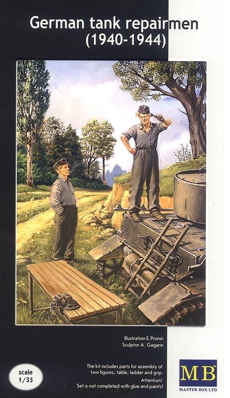 Master Box Ltd German tank repairmen (1940-1944)  - Scale 1/35 - Master Box Ltd - MBLTD3509