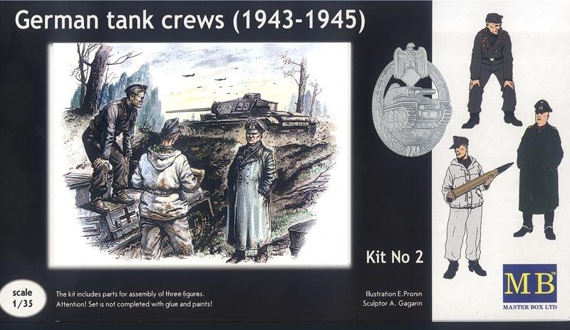 Master Box Ltd German tank crew (1943-1945) Kit No2  - Scale 1/35 - Master Box Ltd - MBLTD3508