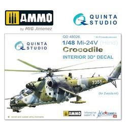 Mi-24V  3D-Printed & coloured Interior on decal paper - Scale 1/48 - Quinta Studio - QD48026