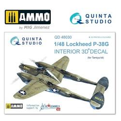 P-38G 3D-Printed & coloured Interior on decal paper - Scale 1/48 - Quinta Studio - QD48030