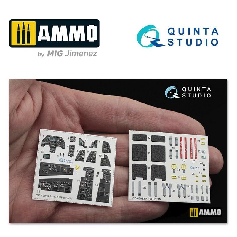 Quinta Studio F-16I 3D-Printed & coloured Interior on decal paper - Scale 1/48 - Quinta Studio - QD48033