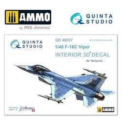 F-16C 3D-Printed & coloured Interior on decal paper - Scale 1/48 - Quinta Studio - QD48037