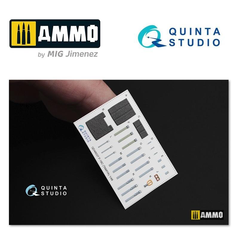 Quinta Studio F-16C 3D-Printed & coloured Interior on decal paper - Scale 1/48 - Quinta Studio - QD48037