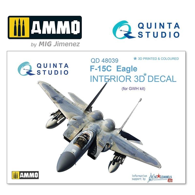 Quinta Studio F-15C 3D-Printed & coloured Interior on decal paper - Scale 1/48 - Quinta Studio - QD48039