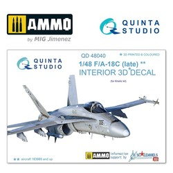 F/A-18C (late) 3D-Printed & coloured Interior on decal paper - Scale 1/48 - Quinta Studio - QD48040