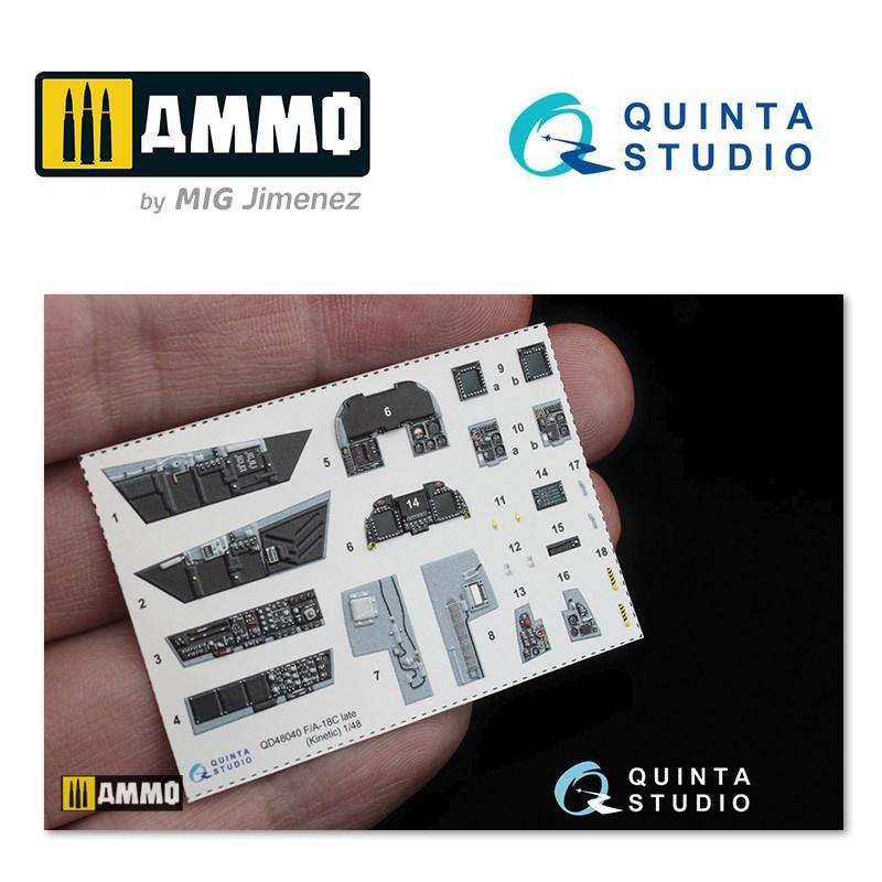 Quinta Studio F/A-18C (late) 3D-Printed & coloured Interior on decal paper - Scale 1/48 - Quinta Studio - QD48040