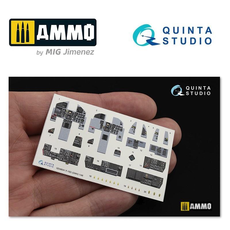 Quinta Studio F-15D 3D-Printed & coloured Interior on decal paper - Scale 1/48 - Quinta Studio - QD48041