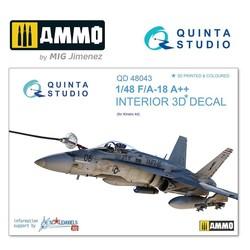F/A-18A++ 3D-Printed & coloured Interior on decal paper - Scale 1/48 - Quinta Studio - QD48043